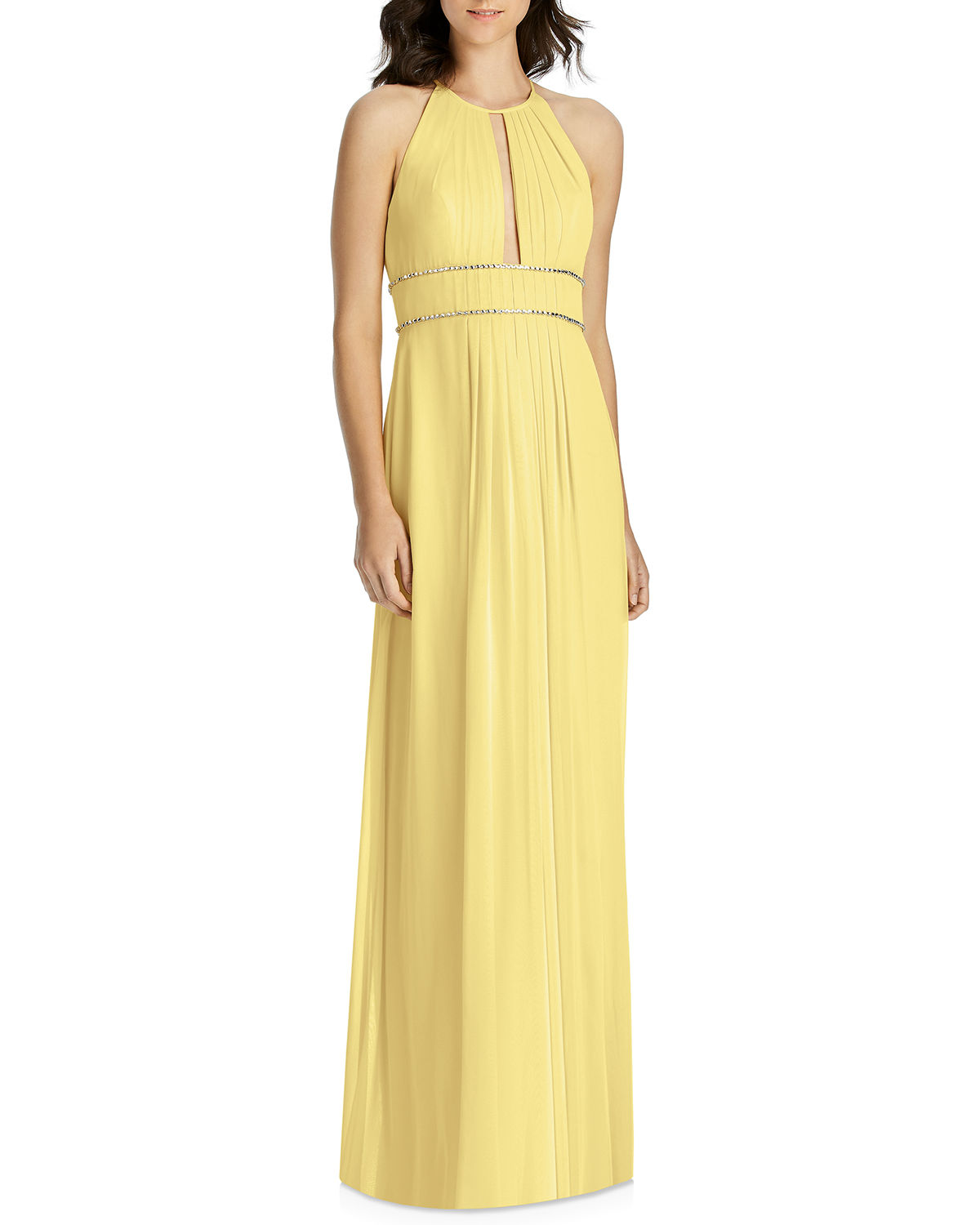 04eb0af8a838 Jenny Packham Lux Chiffon Halter Bridesmaid Gown with Beaded Trim ...