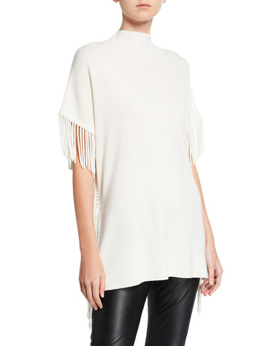 Cyrus Fringe Short-Sleeve Sweater