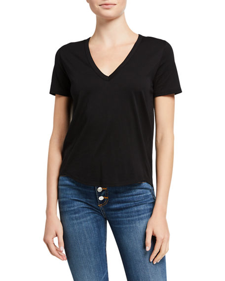 Image 2 of 3: Veronica Beard Jeans Cindy V-Neck Short-Sleeve Tee