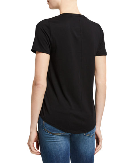 Image 3 of 3: Veronica Beard Jeans Cindy V-Neck Short-Sleeve Tee