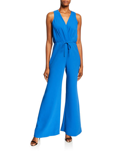 Blyent Womens V Neck Sleeveless Hooded Wide Leg Casual Jumpsuit Romper with Pockets