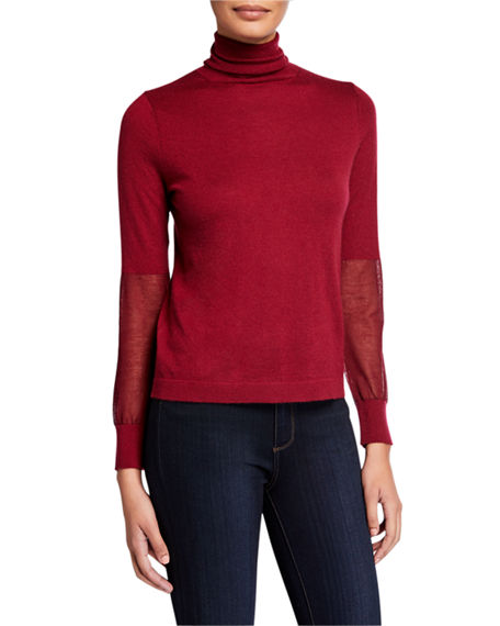 Neiman Marcus Cashmere Collection Cashmere Boatneck: Neiman Marcus Cashmere Collection Cashmere Embellished