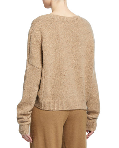 Vince Cashmere Double-Seam Sweater