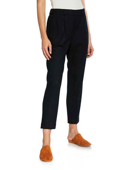 Vince Cozy Pull-On Cropped Pants
