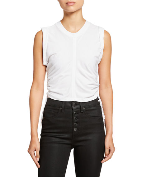 alexanderwang.t Wash & Go Side-Tie Crop Top
