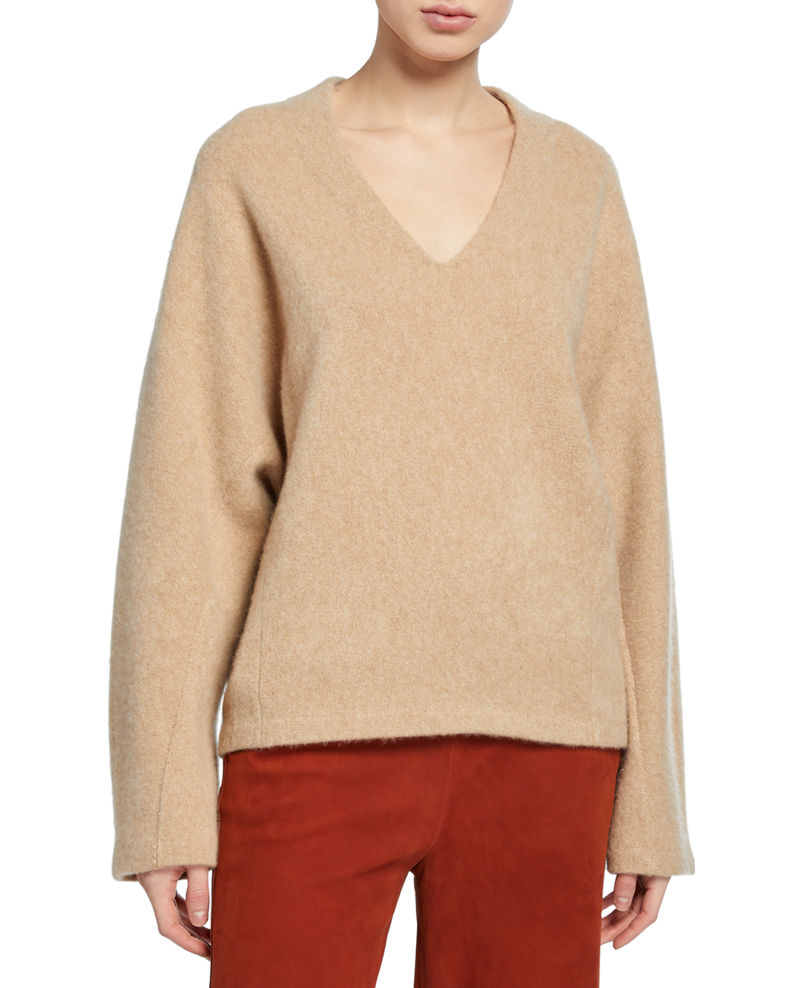 V Neck Dolman Sleeve Sweater by Vince