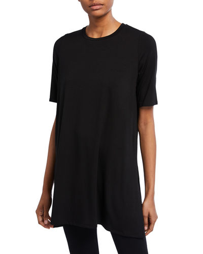 Eileen Fisher Petite 1/2-Sleeve Round-Neck Tunic