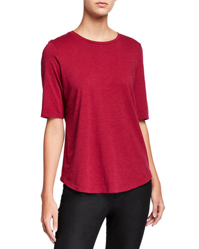 Organic Cotton Elbow-Sleeve Jersey Tee