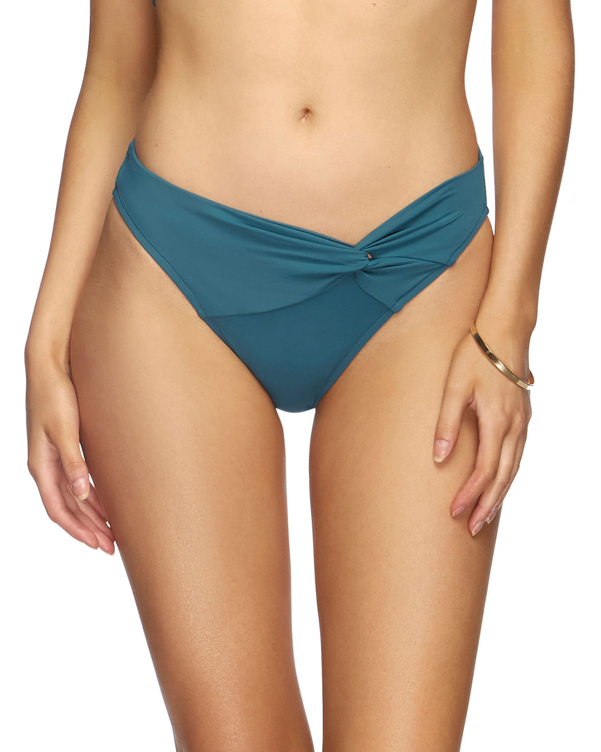 JETS by Jessika Allen Twist-Front Hipster Bikini Bottom