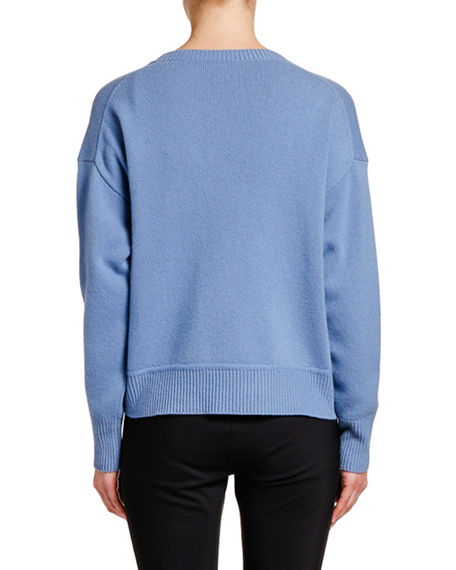 Image 2 of 2: Moncler Relaxed Logo-Patch Sweater