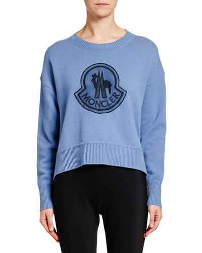 Relaxed Logo-Patch Sweater