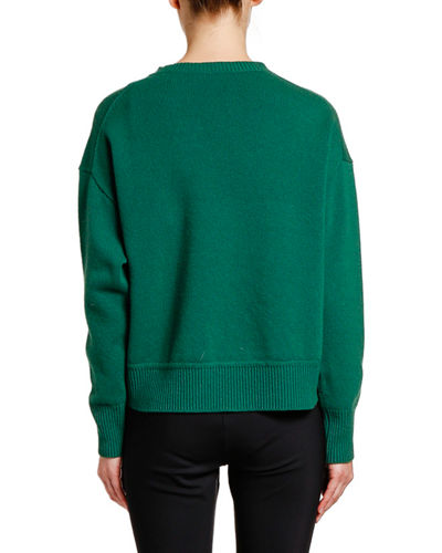 Moncler Relaxed Logo-Patch Sweater