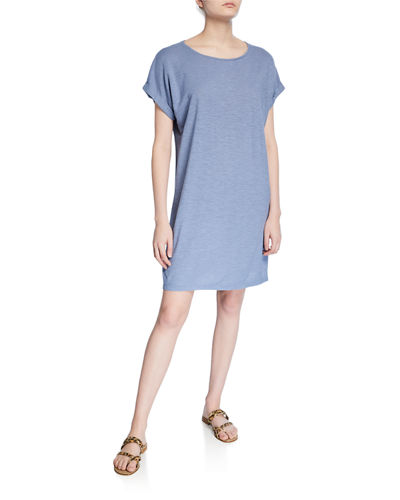 Hemp/Organic Cotton Short-Sleeve Twist Dress
