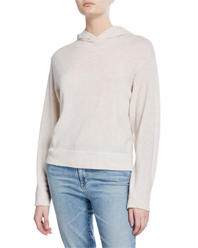 Cashmere Overlap Hoodie Sweater