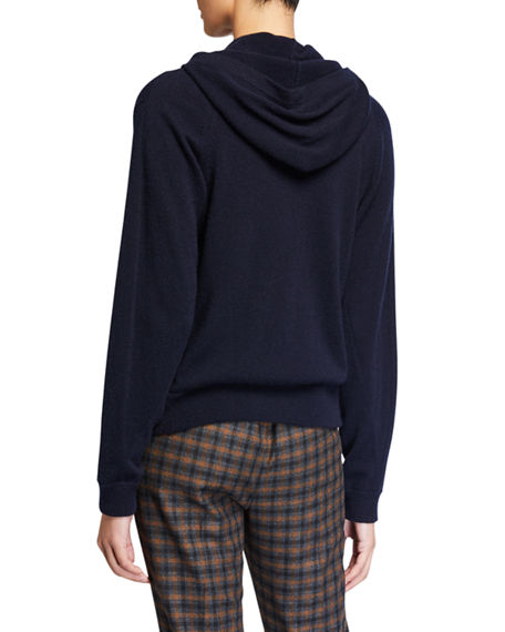 Image 2 of 2: Vince Cashmere Overlap Hoodie Sweater