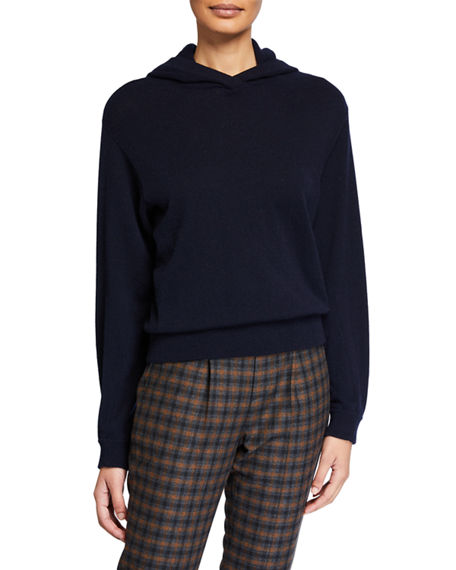 Image 1 of 2: Vince Cashmere Overlap Hoodie Sweater