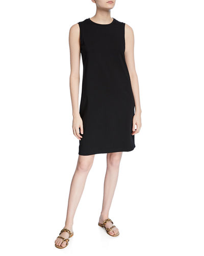 Crewneck Organic Cotton Jersey Tank Dress