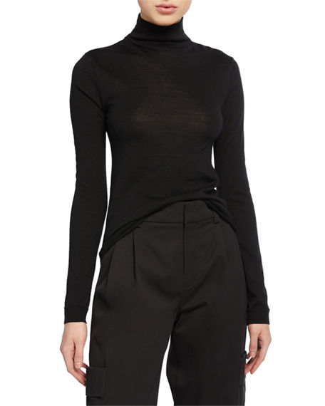 Vince Rib-Trim Raglan Turtleneck Sweater