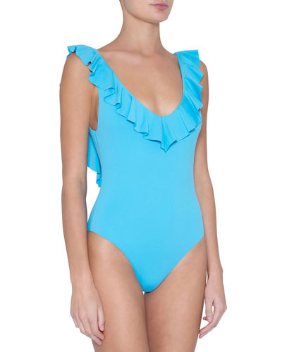 So Solid Loreta Ruffle One Piece Swimsuit
