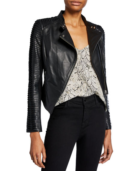 LaMarque Azra Leather Moto Jacket
