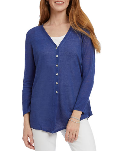 Carefree Button-Front Cardigan