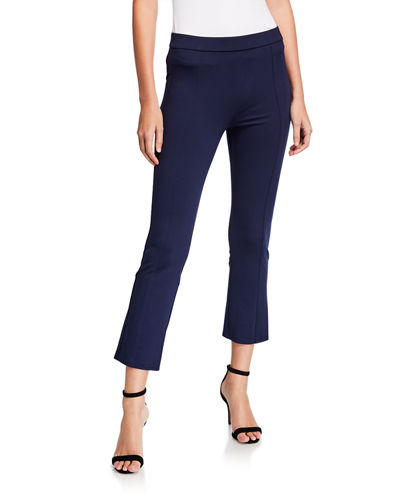 Ponte Cropped Flare Pant