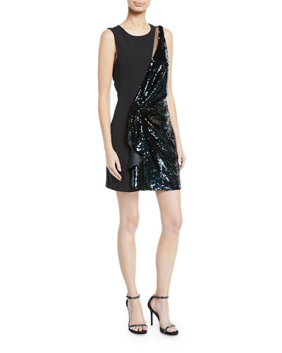 Albany Sequin Combo Mini Dress