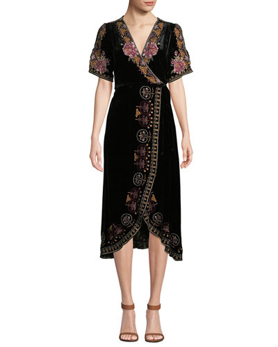 Joanna Velvet Wrap Dress