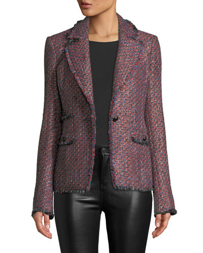 Fabian Tweed Single-Button Jacket
