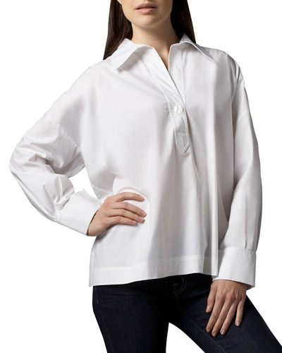 Plus Size Boxy Oversize Stretch Shirt