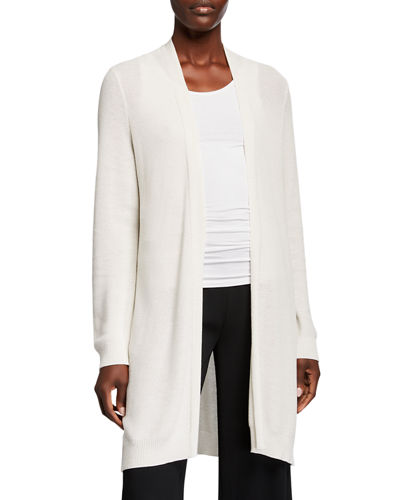 Plus Size Lyocell Open-Front Cardigan