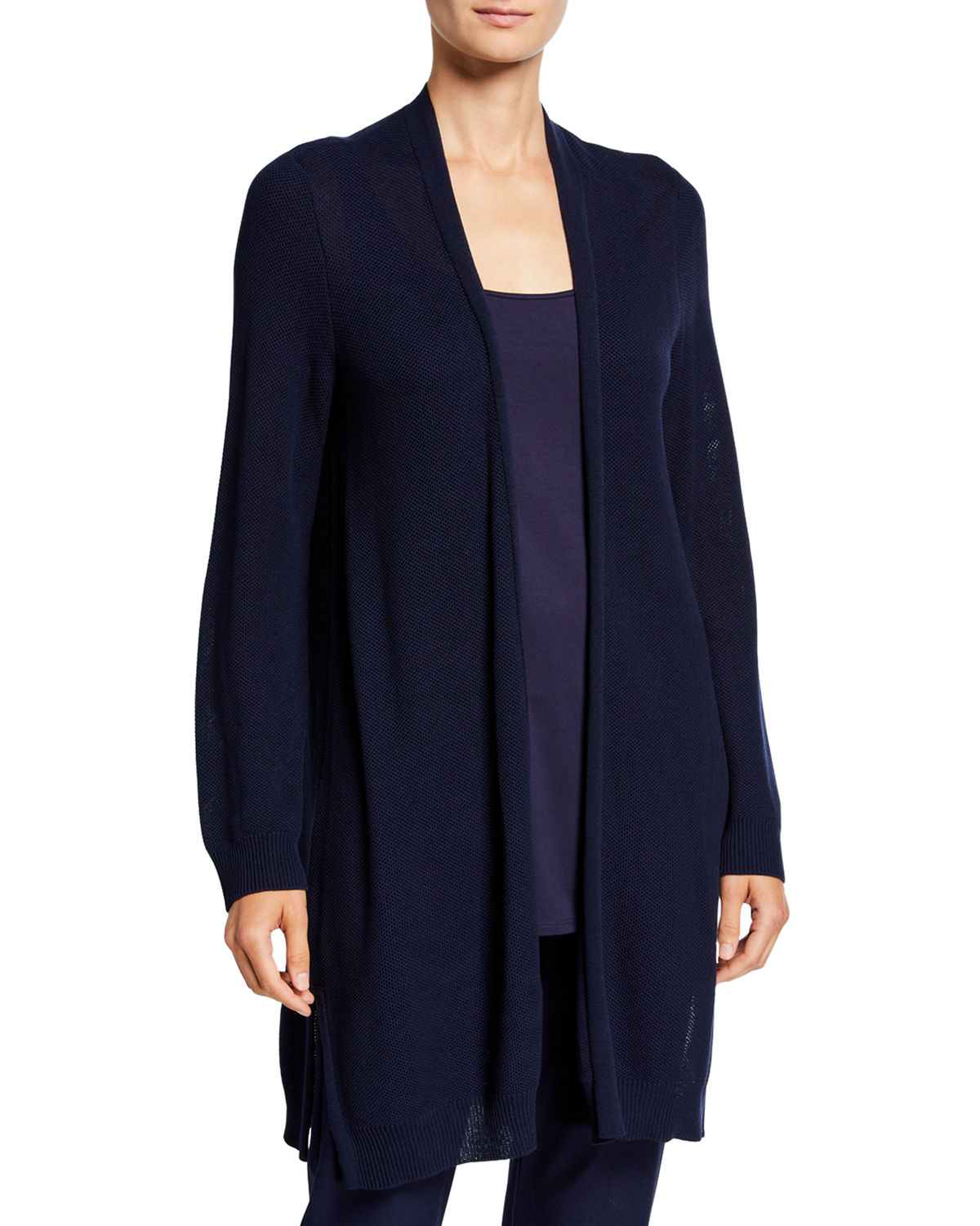 Eileen Fisher Tops PLUS SIZE LYOCELL OPEN-FRONT CARDIGAN