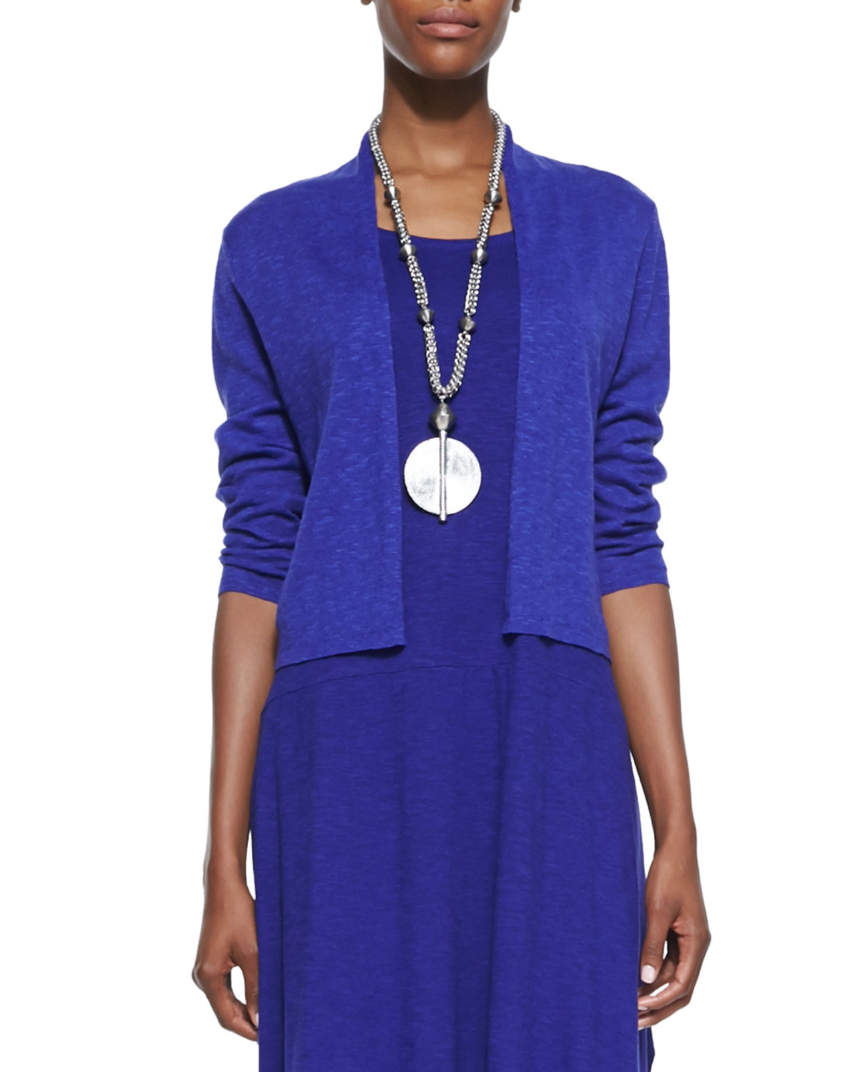 Eileen Fisher Tops OPEN-FRONT CROPPED STRAIGHT CARDIGAN