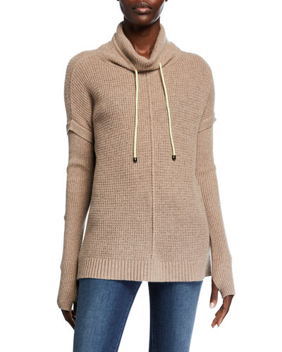 Well Traveled Cashmere Funnel-Neck Sweater
