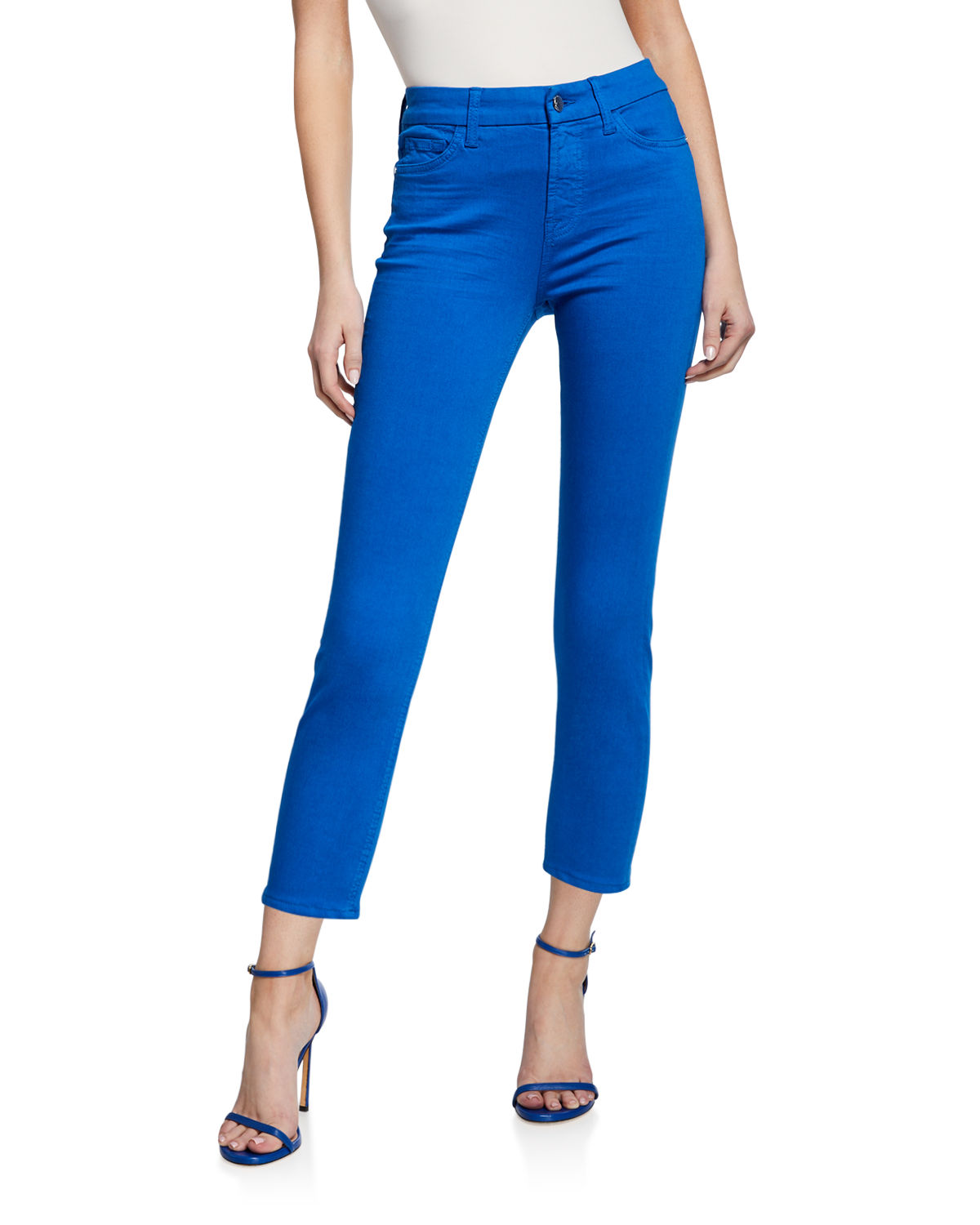High-Rise Cropped Ankle Skinny Jeans