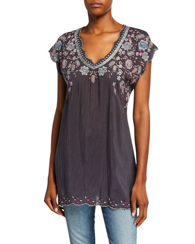 0eaa605df46 Johnny Was Georgette Rayon Tunic | Neiman Marcus
