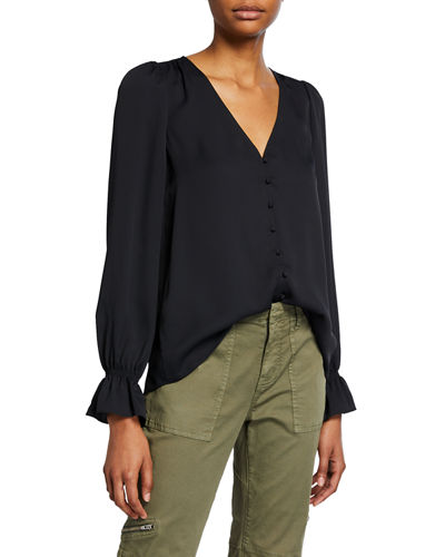 Joie Bolona Button-Front Top
