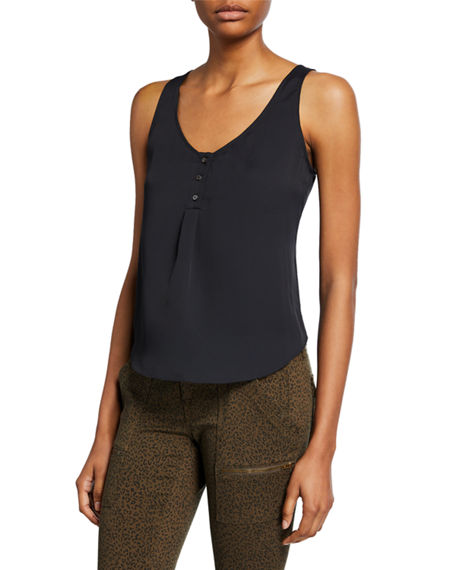 Image 1 of 2: Joie Caelen Scoop-Neck Tank
