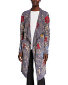 Johnny Was Plus Size Pua Embroidered Knit Cardigan