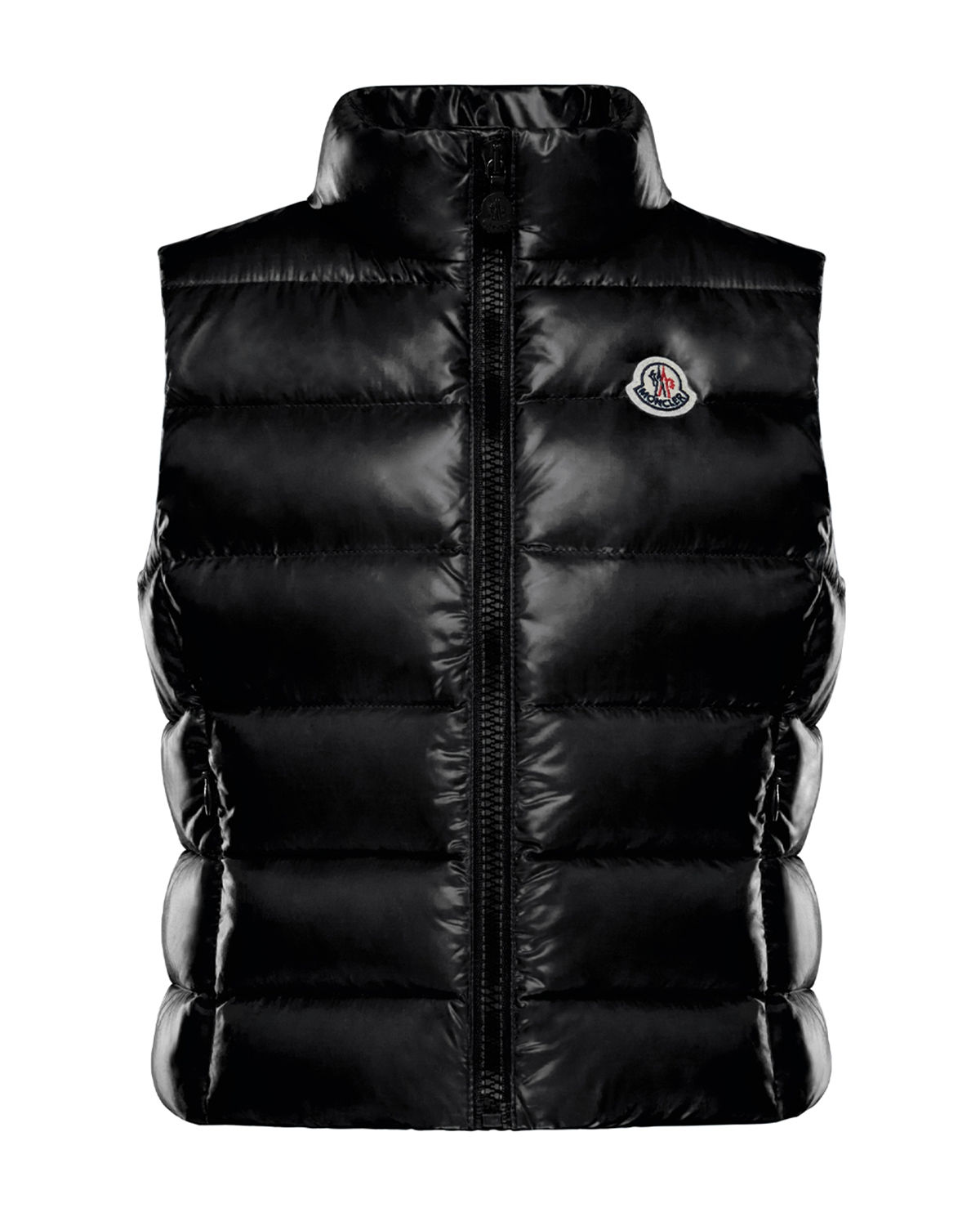 Moncler Kids' Ghany Quilted Zip-front Vest In Black