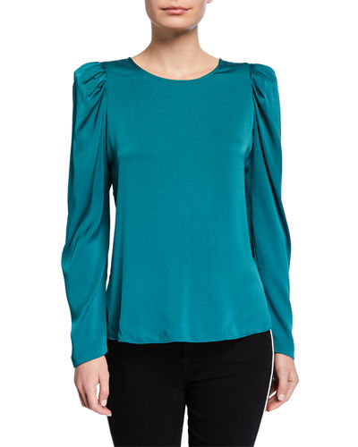Lois Long-Sleeve Silk Blouse