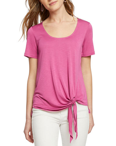 Boardwalk Short-Sleeve Tie-Hem Top