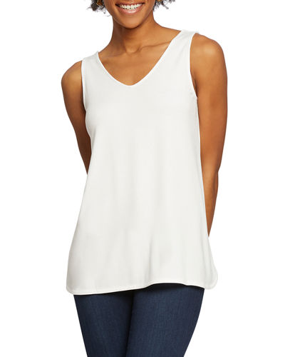 Sunday Stroll V-Neck Short-Sleeve Top