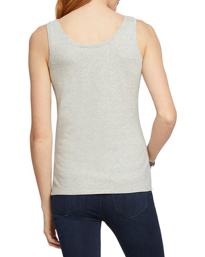 NIC+ZOE Perfect Scoop-Neck Stretch-Cotton Tank