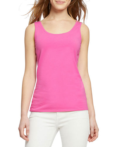 Petite Perfect Scoop-Neck Stretch-Cotton Tank