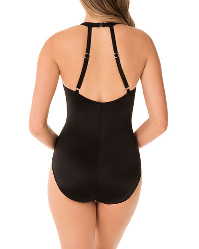 Miraclesuit Wrapsody Solid One-Piece Swimsuit