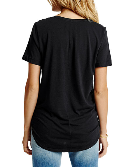 Image 2 of 2: Sol Angeles Sol Essential Torque Short-Sleeve V-Neck Tee