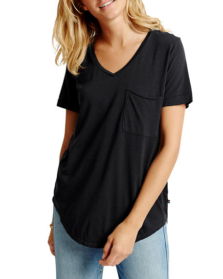 Image 1 of 2: Sol Angeles Sol Essential Torque Short-Sleeve V-Neck Tee