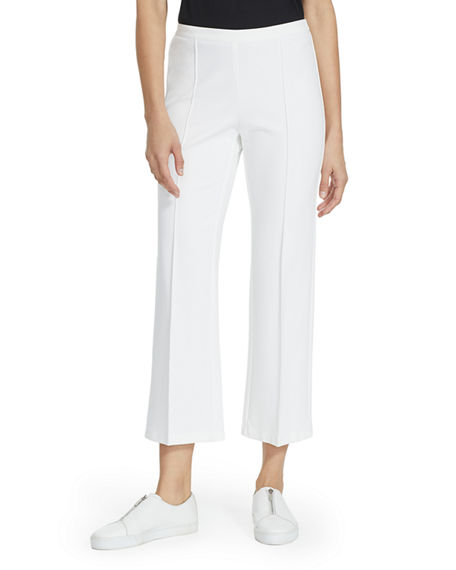 Lafayette 148 New York Manhattan Punto Milano Pull-On Crop Pants