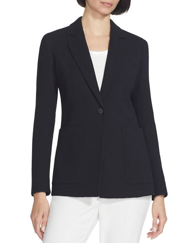 Nazelli Nouveau Crepe One-Button Jacket